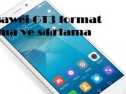 Huawei GT3 format atma ve sıfırlama