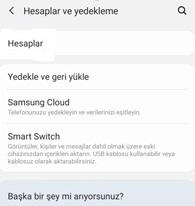 Samsung telefondan google hesabını kaldırma