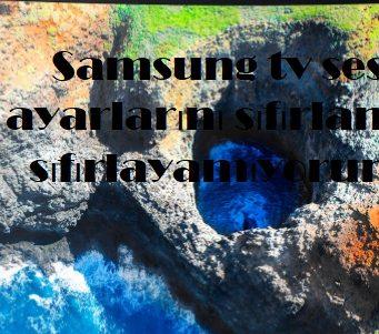 Samsung tv ses ayarlarını sıfırlama sıfırlayamıyorum