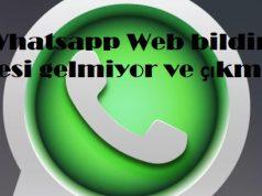 Whatsapp Web bildirim sesi gelmiyor ve çıkmıyor