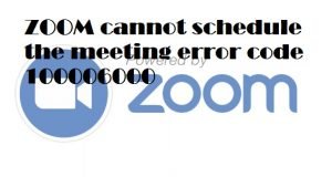 ZOOM cannot schedule the meeting error code 100006000