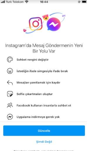 instagram dm renk değiştirme bende yok