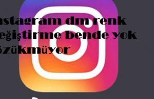 instagram dm renk değiştirme bende yok gözükmüyor