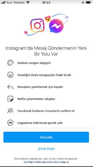 instagram sohbet rengi