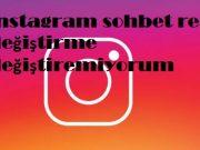 instagram sohbet rengi değiştirme değiştiremiyorum