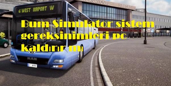 Bum Simulator sistem gereksinimleri pc kaldırır mı