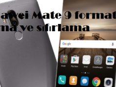 Huawei Mate 9 format atma ve sıfırlama