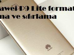 Huawei P9 Lite format atma ve sıfırlama