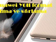 Huawei Y6II format atma ve sıfırlama