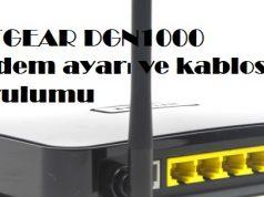NETGEAR DGN1000 modem ayarı ve kablosuz kurulumu