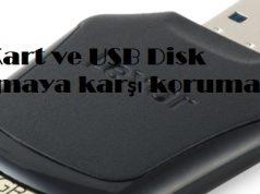 SD Kart ve USB Disk yazmaya karşı korumalı