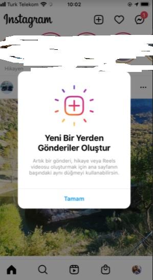 instagram gönderi ekleme butonu kayboldu ve nereye gitti