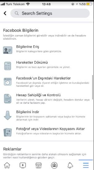 Facebook bilgileri indir bende yok