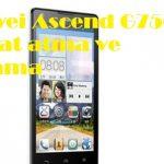 Huawei Ascend G7500 format atma ve sıfırlama