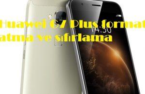 Huawei G7 Plus format atma ve sıfırlama