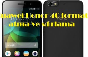 Huawei Honor 4C format atma ve sıfırlama