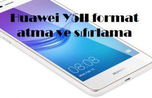 Huawei Y5II format atma ve sıfırlama