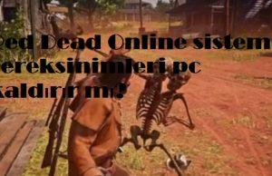 Red Dead Online sistem gereksinimleri pc kaldırır mı