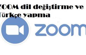 ZOOM dil değiştirme ve Türkçe yapma