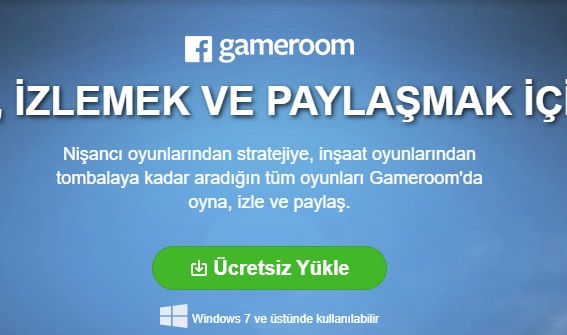 Facebook Gameroom yükleyemiyorum ve indiremiyorum