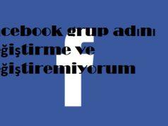 Facebook grup adını değiştirme ve değiştiremiyorum