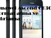 Huawei Ascend G630 format atma ve sıfırlama
