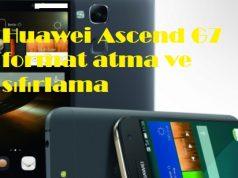 Huawei Ascend G7 format atma ve sıfırlama