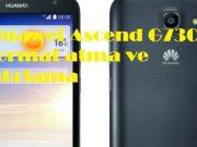 Huawei Ascend G730 format atma ve sıfırlama