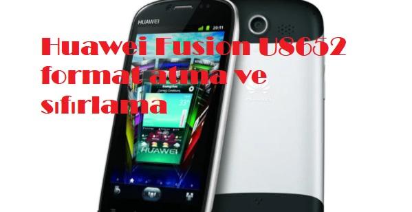 Huawei Fusion U8652 format atma ve sıfırlama