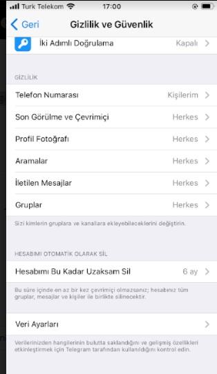 Telegram arama alamıyorum