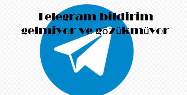 Telegram bildirim gelmiyor ve gözükmüyor