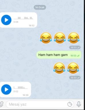 Telegram kişi yollama