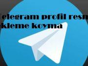 Telegram profil resmi ekleme koyma