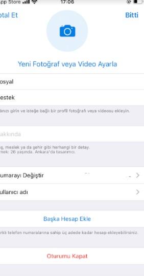 Telegram profil resmi koyma