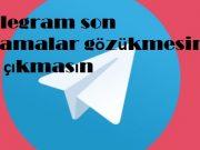 Telegram son aramalar gözükmesin ve çıkmasın