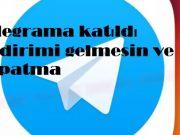 Telegrama katıldı bildirimi gelmesin ve kapatma