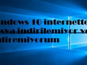 Windows 10 internetten dosya indirilemiyor ve indiremiyorum