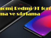 Xiaomi Redmi 9T format atma ve sıfırlama