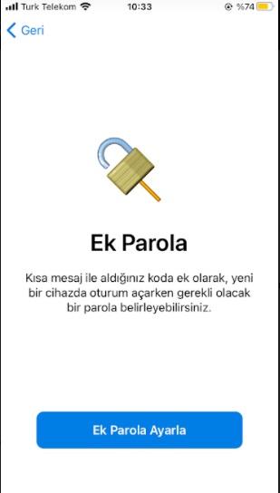 Telegram ek parola koyma