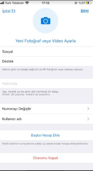 Telegram numara değiştirme