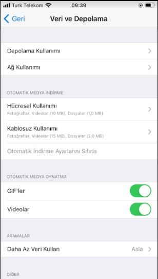 Telegram önbelleği temizleme