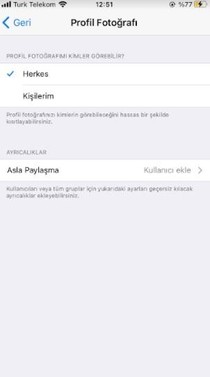 Telegram profil fotoğrafını gizleme ve saklama