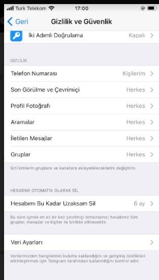 Telegram son görülmem çıkmasın