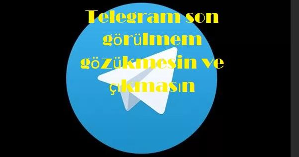 Telegram son görülmem gözükmesin ve çıkmasın