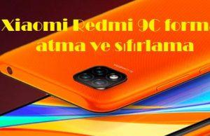 Xiaomi Redmi 9C format atma ve sıfırlama