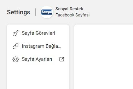 Facebook sayfa ayarları bulamıyorum