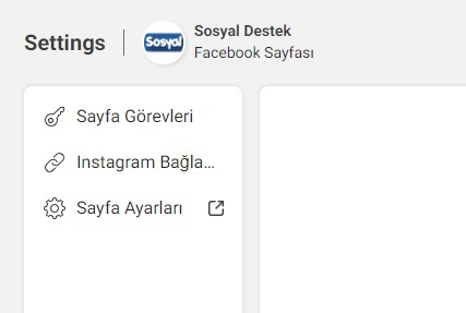 Facebook sayfama instagram bağlama
