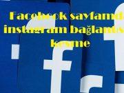 Facebook sayfamda instagram bağlantısını kesme