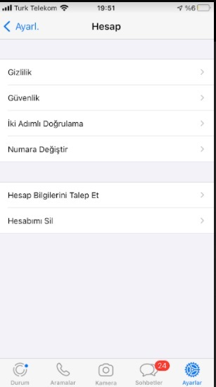 Whatsapp grup isteği kapatma