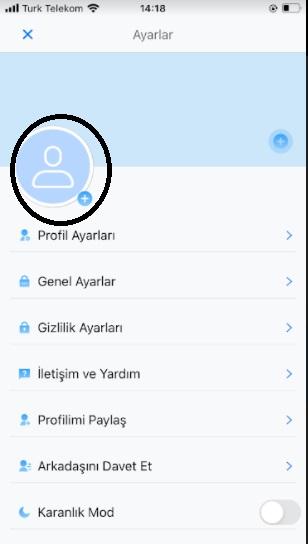 YAAY profil resmi değiştirme ve ekleme